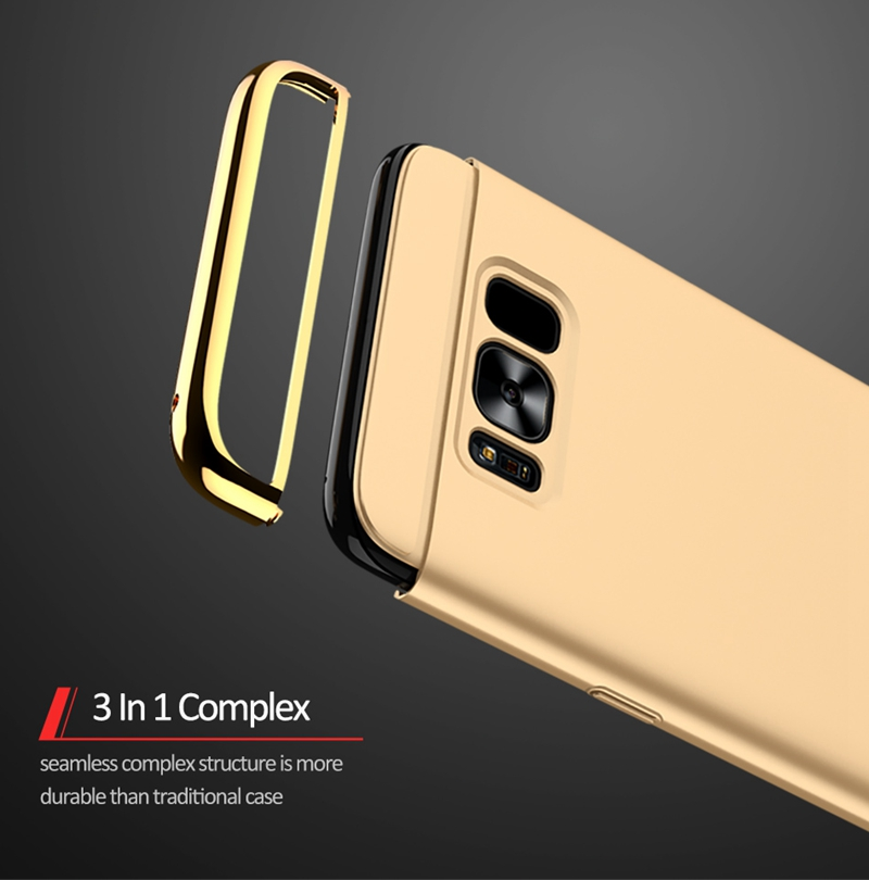 Samsung Galaxy S8 Plus Hard PC Electroplating 3 in 1 Back