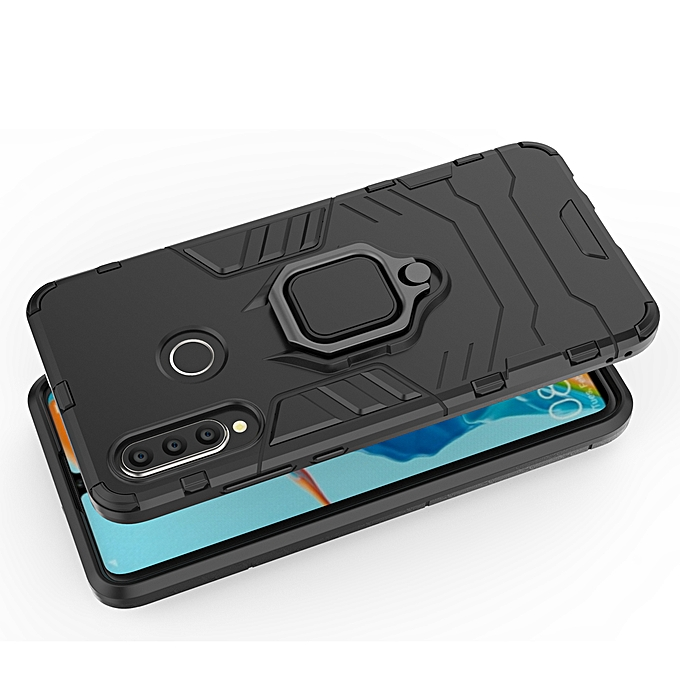 Huawei P30 Lite Shockproof Hybrid Magnetic Ring Back Case Cover