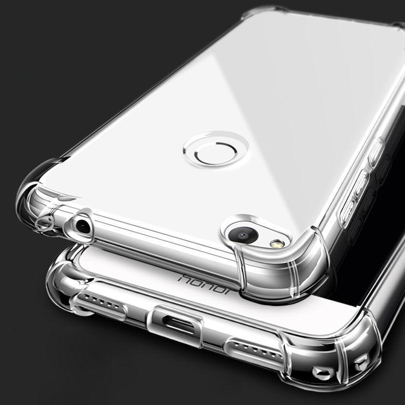 timeless design e0193 a27e5 Huawei Honor 8 Lite Shockproof Transparent Silicone Soft TPU Back ...