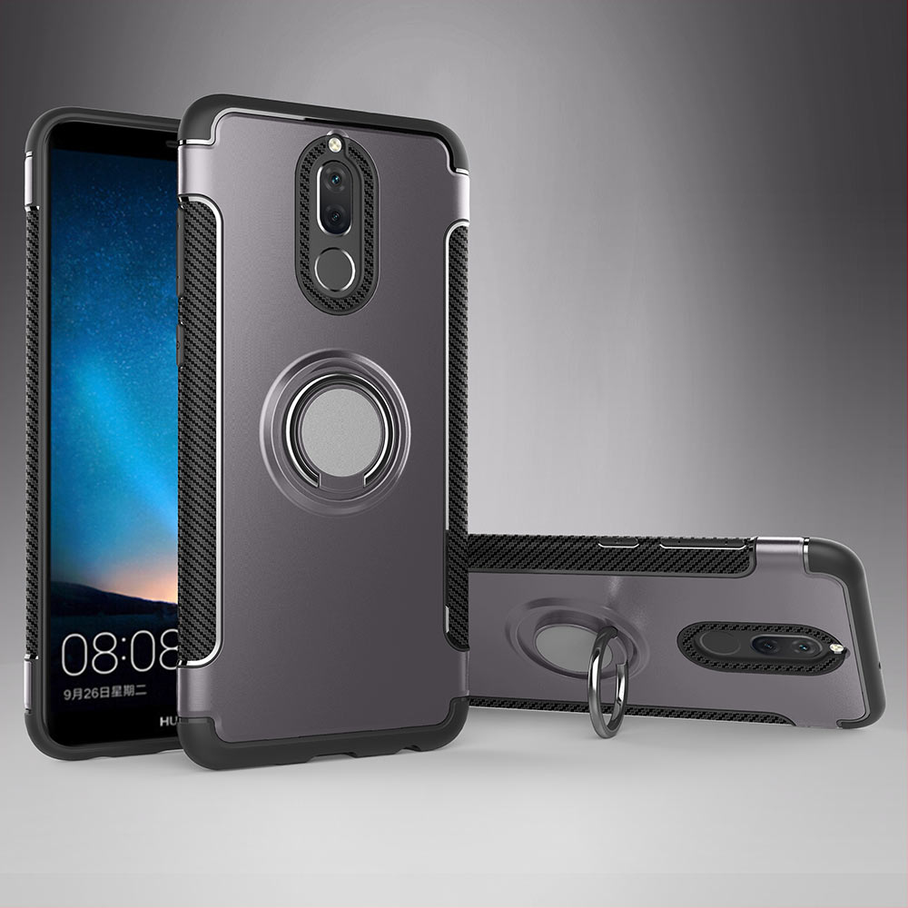 huge discount 42494 1a756 Huawei Mate 10 Lite Shockproof Hybrid Magnetic Holder Ring Back Case ...