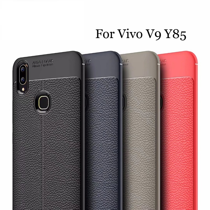 Vivo V9 Luxury Shockproof Auto Focus Design Soft TPU Back Cover