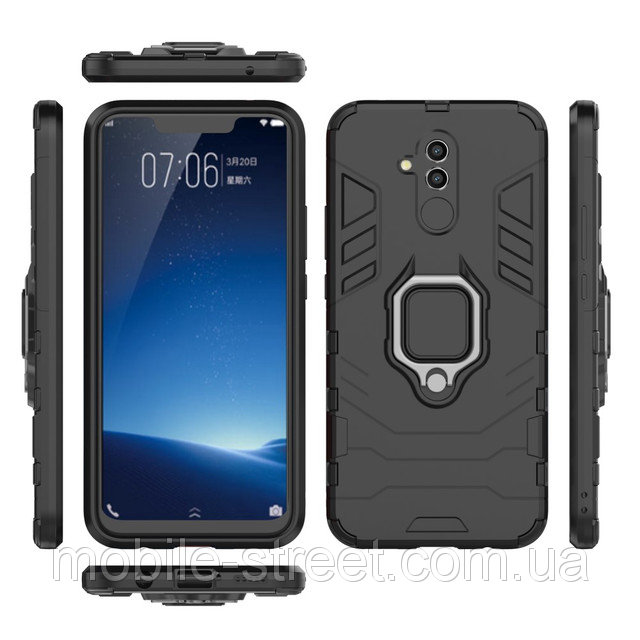 Huawei Mate 20 Lite Shockproof Hybrid Magnetic Ring Back Case Cover