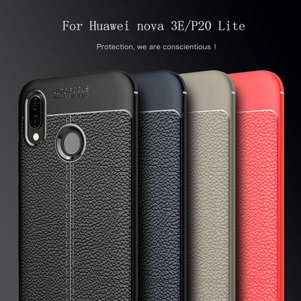 Huawei P20 Lite Luxury Shockproof Auto Focus Design Soft TPU Back Cover