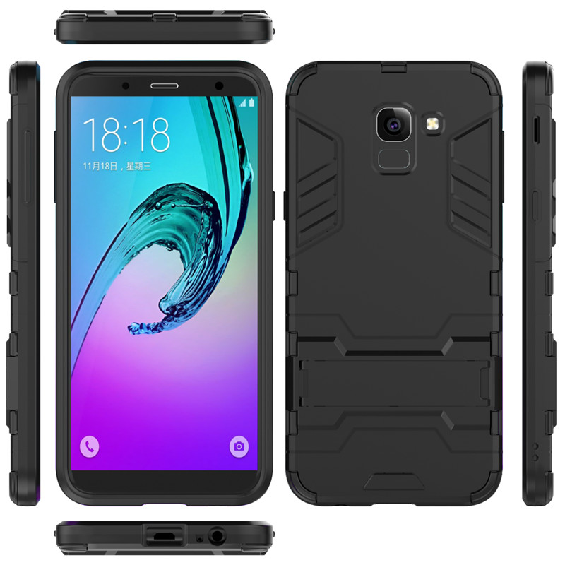 sports shoes c7a67 40447 Samsung Galaxy J6 2018 Shockproof Hybrid Kickstand Back Case Cover ...