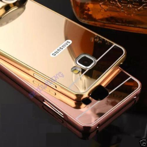 on sale e8ce5 5e05f Samsung Galaxy J7 Prime Metal Bumper Mirror Back Case Cover | Makro ...