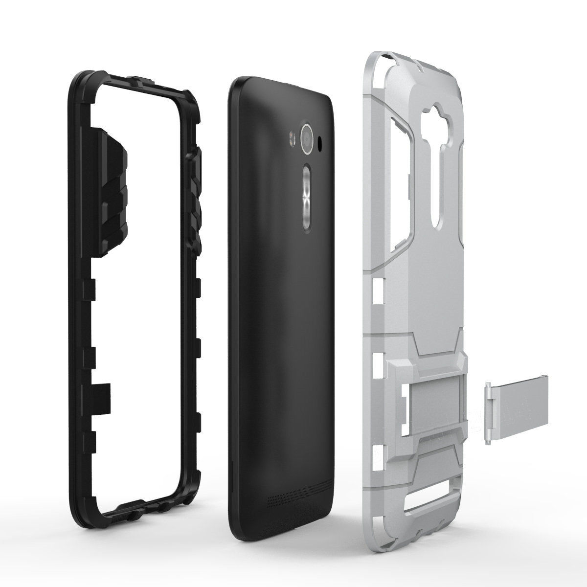 Shockproof Armor TPU+PC Case Stand Cover For ASUS Zenfone 2