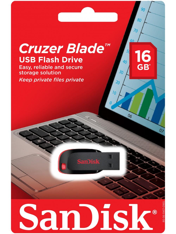 SanDisk Cruzer Blade 16 GB USB 2.0 Flash Drive