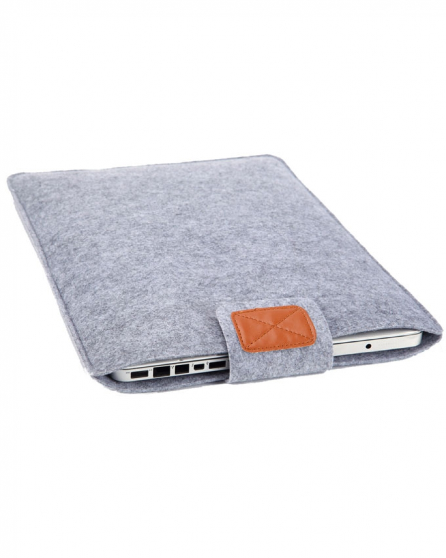 Laptop Sleeve 15.6 Inch Premium Soft - Grey