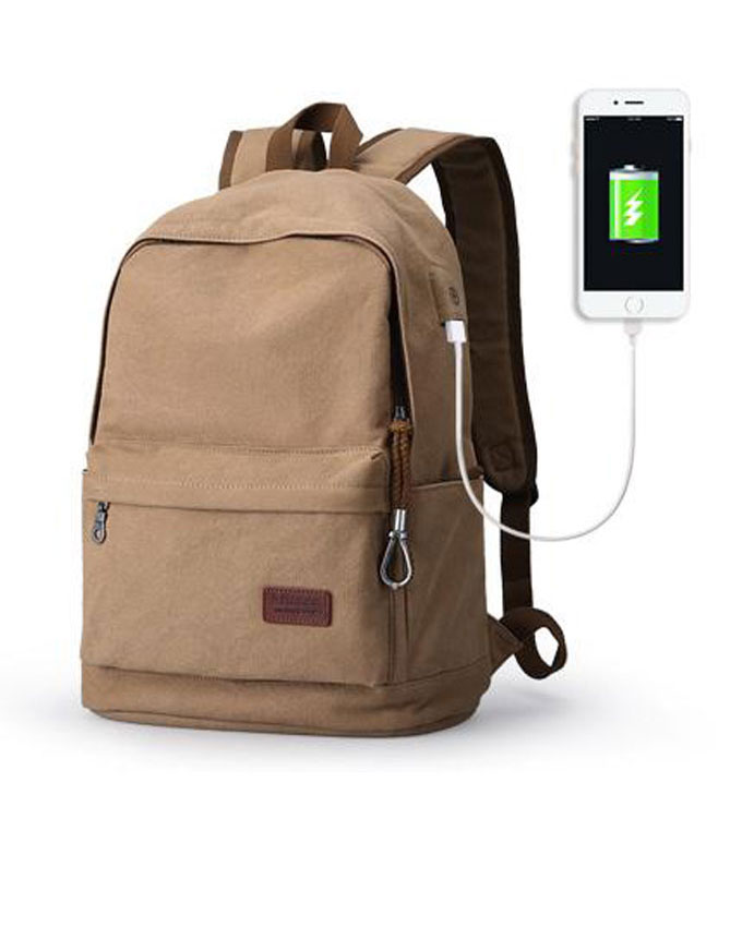 Muzee 15.6 Inch Laptop Backpack With USB Charging Port Bag