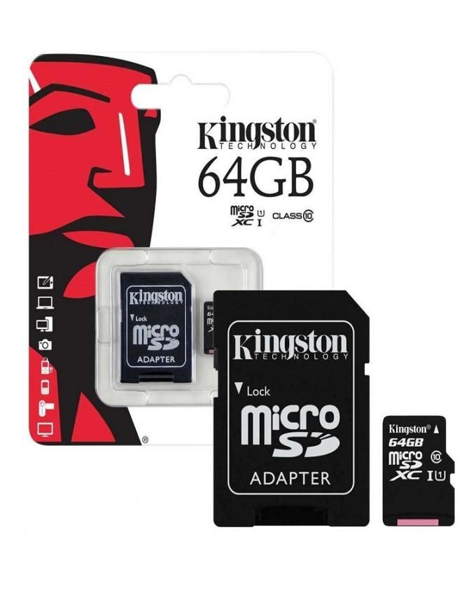 Kingston 64 GB Memory Card with Adapter