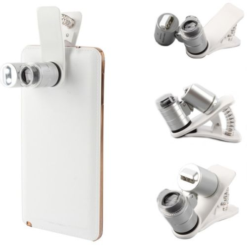 60X Zoom Mobile Phone Camera Optical LED UV Clip Magnifier