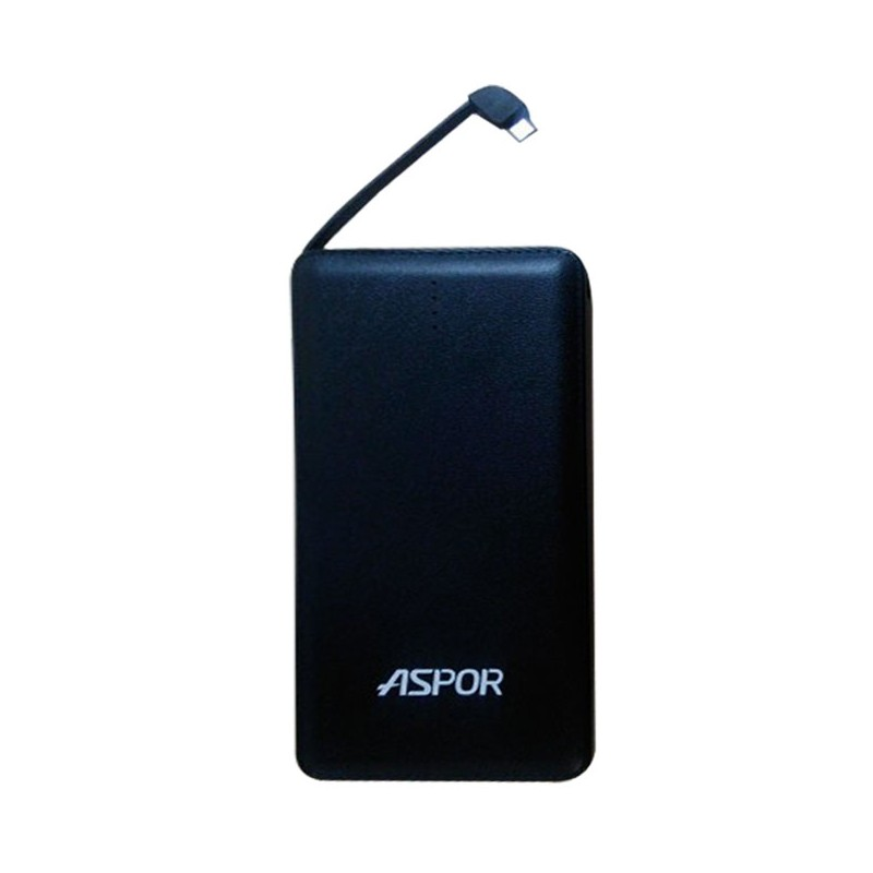 Aspor Dream Smart Slim 10500mAh Real Capacity Power Bank With Built-in Micro USB Cable For Apple iPhone, iPod, Samsung