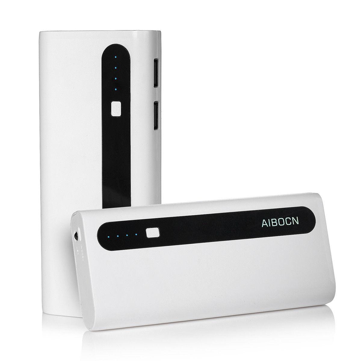 10000mAh AIBOCN Power Bank Dual USB Mobile Charger