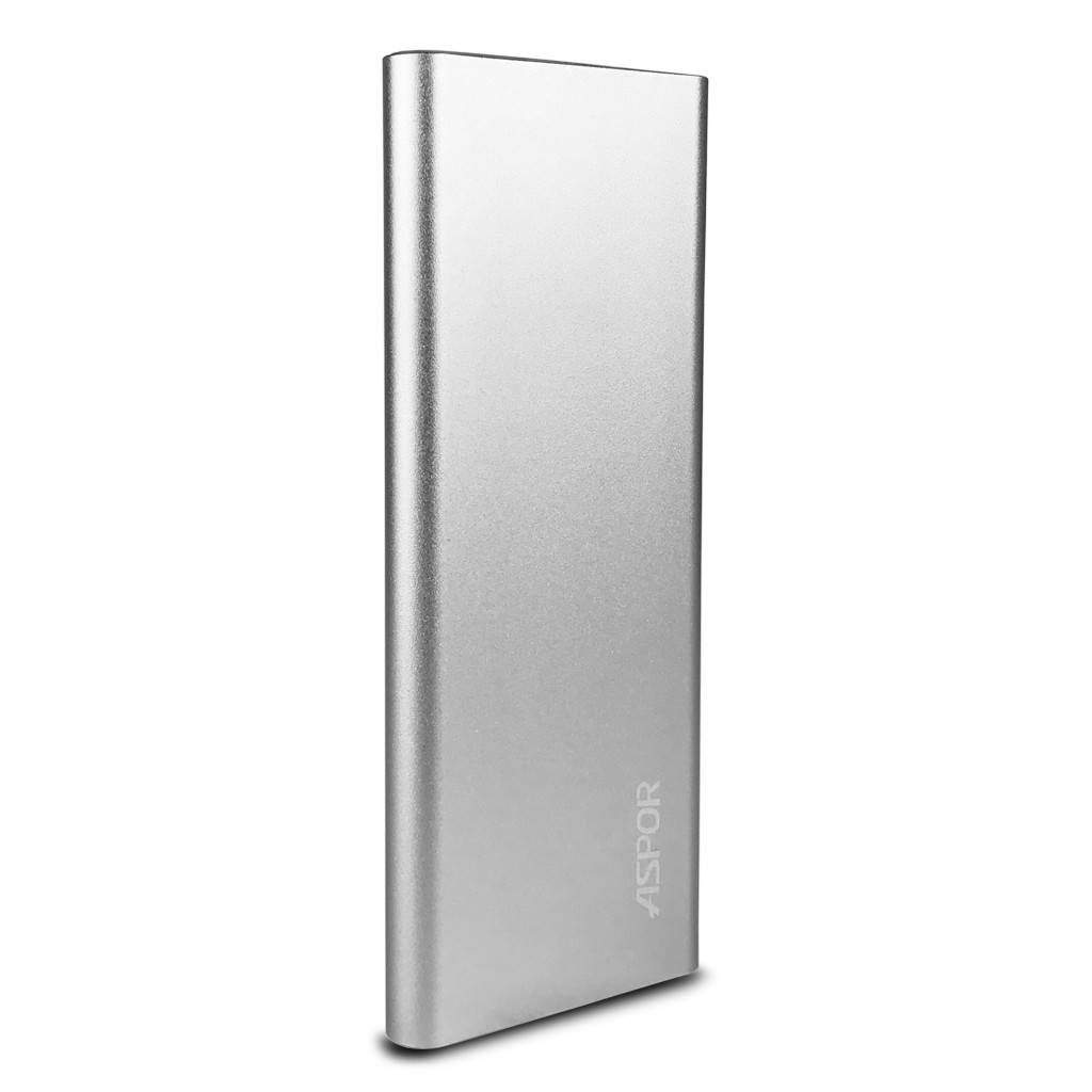 Aspor Air 10000mAh UltraThin Polymer Smart Power Bank with USB & LED Light A383