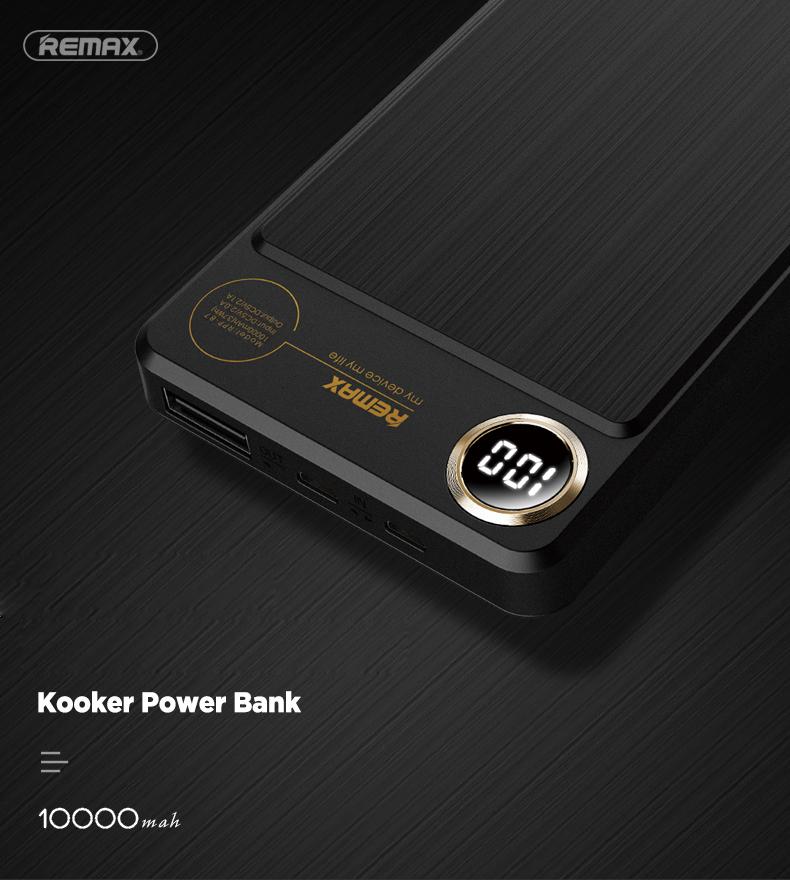 Remax Kooker Series Digital Display Powerbank 10000mah RPP-87