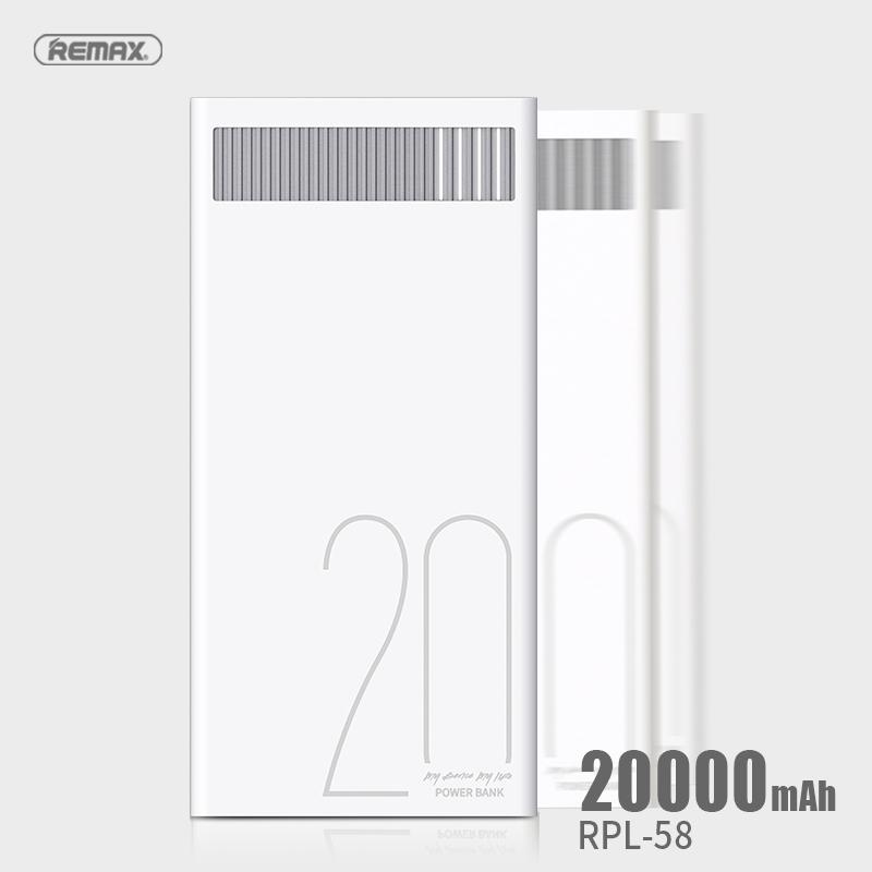 Remax Power Bank Revolution Series 20000mAh Original 74Wh RPL-58 - White