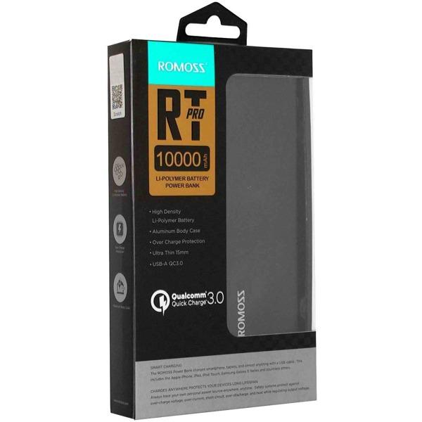 Romoss RT10 Pro 10000mAh Power bank Qualcomm 3.0 Fast Charging