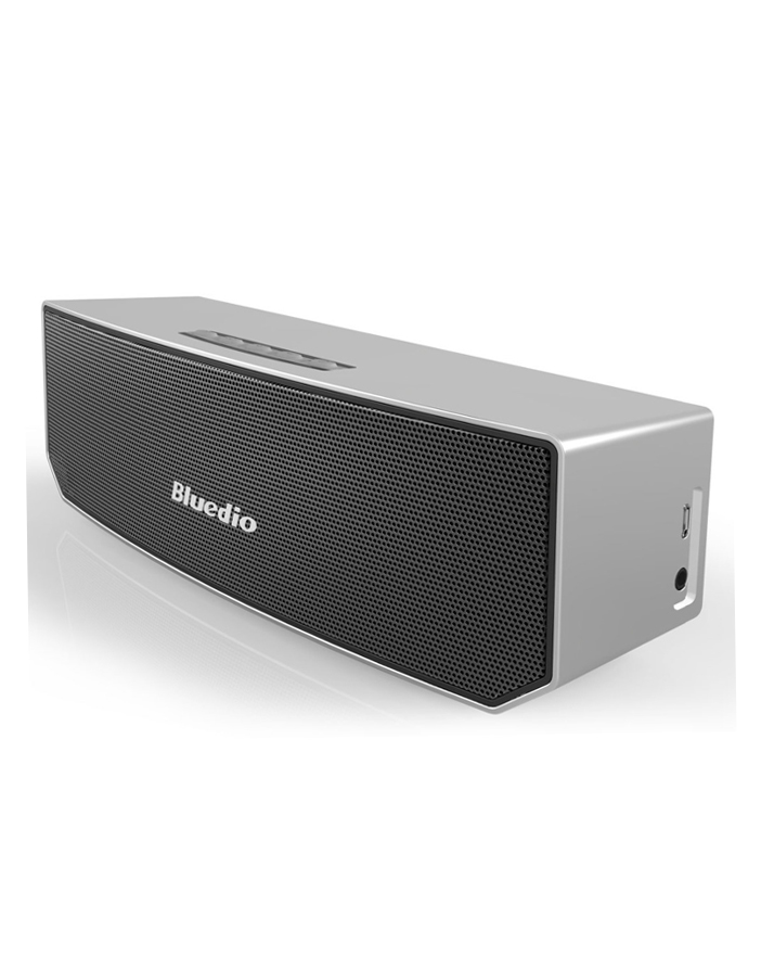 Bluedio BS-3 Portable Bluetooth Wireless Stereo Speaker with Microphone-Silver