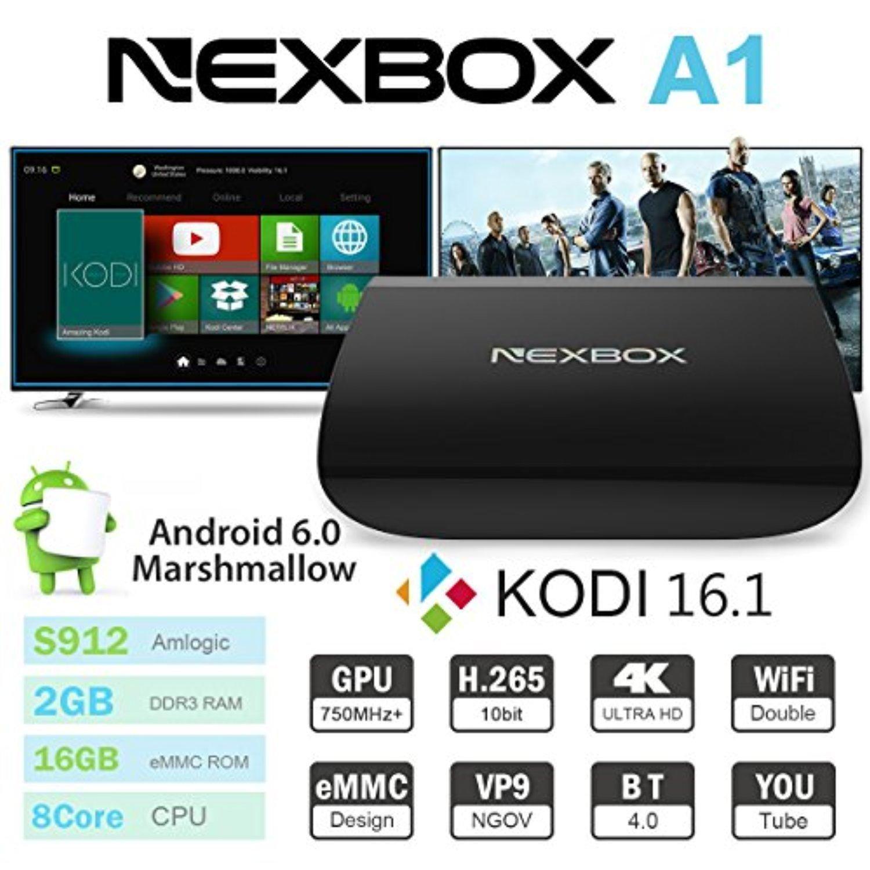 Android Smart TV Box NexBox A1 Octa-core 2GB+16GB Android 6.0